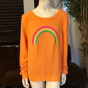 Wildfox Bright Orange Rainbow BBJ in Size Large
